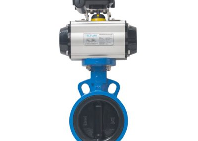 Butterfly Valve softsealed  wafer-type with pneumatic actuator